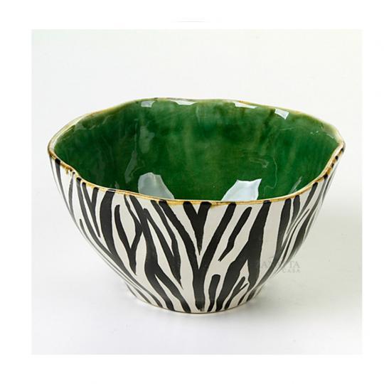 Bowl de Zebra com Verde