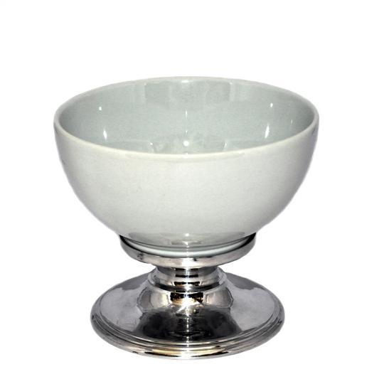 Fruteira de Porcelana com Base de Inox