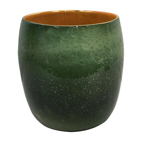 Vaso Tirios I Vidro Cores Laranja e Verde