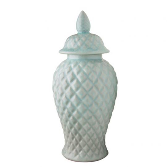 Potiche de Cerâmica Azul