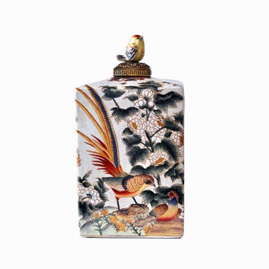 Vaso de Porcelana Saint Pássaro